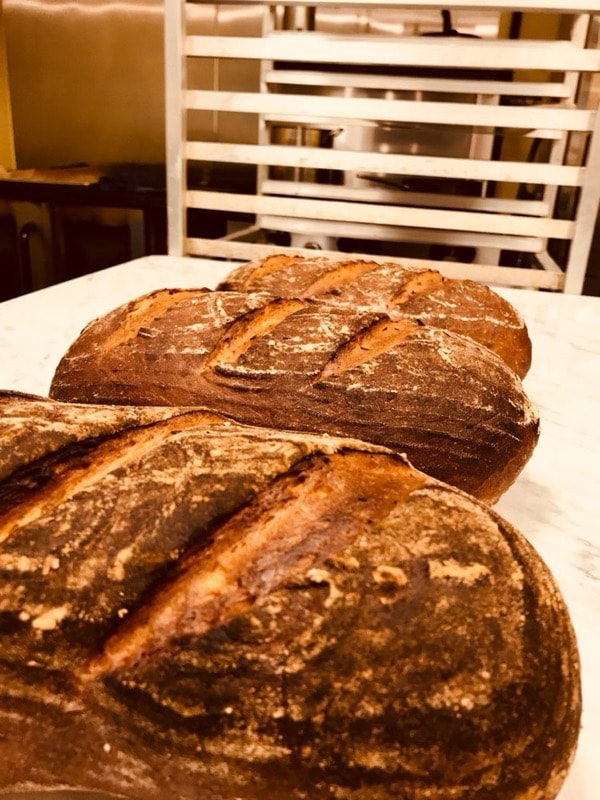 Fresh Baked Rustic Multigrain Bread