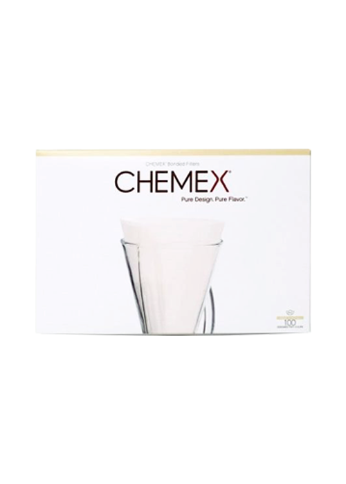 White   CHEMEX® 3-Cup Half Moon Filters