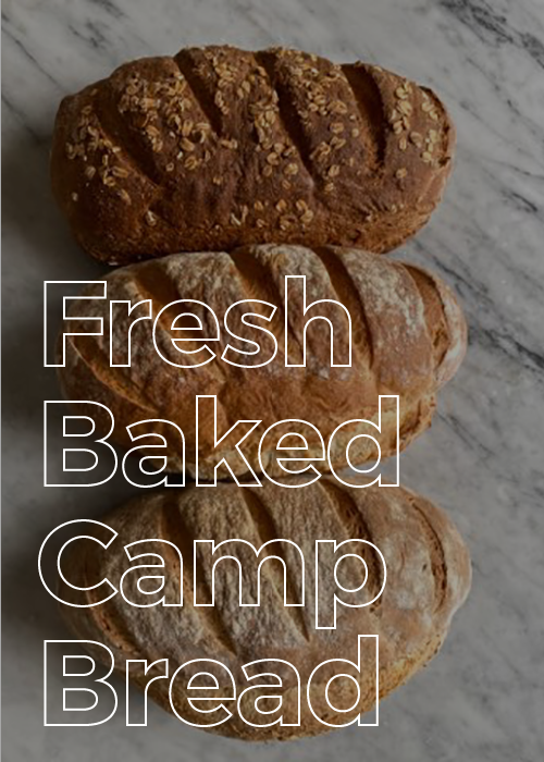 Fresh Baked Rustic Camp Bread