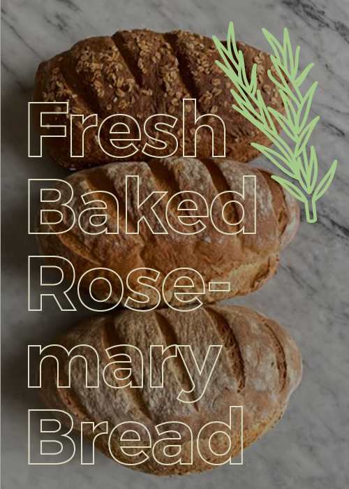 Fresh Baked Rustic Rosemary Bread