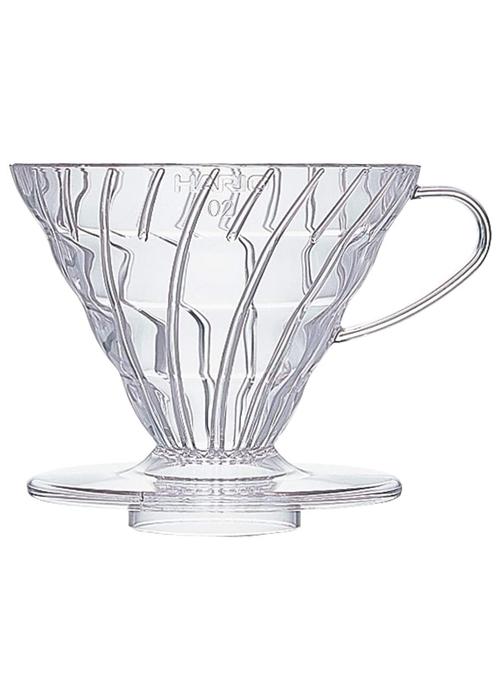 Hario V60 Plastic Coffee Dripper | Clear