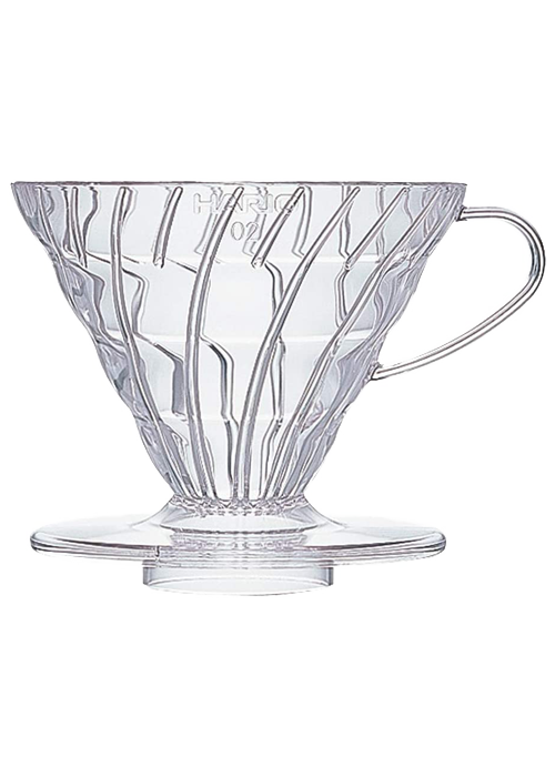 Hario V60 Plastic Coffee Dripper | Clear
