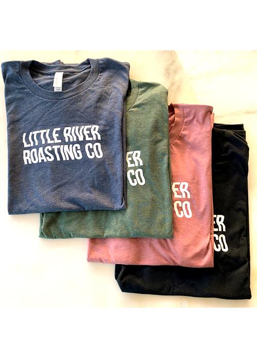 Heather Mauve | Wavy Letters Little River Roasting Co. T-Shirt