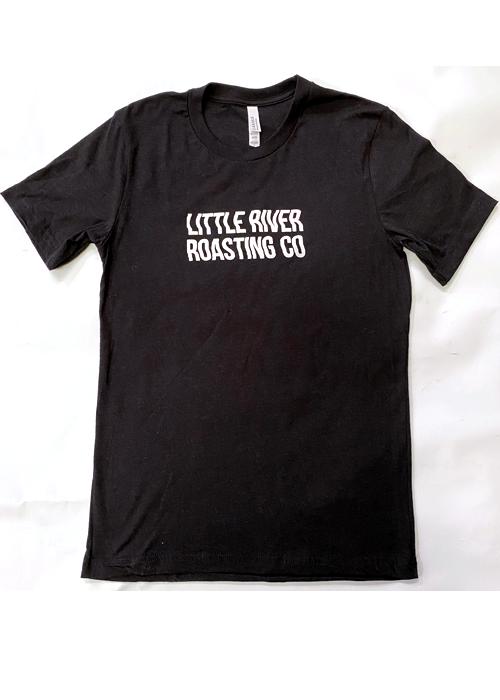 Heather Black | Wavy Letters Little River Roasting Co. T-Shirt