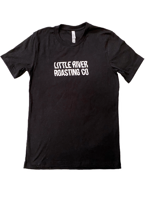 Heather Black | Wavy Letters Little River Roasting Co. T-Shirt
